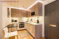 Плавный цветовой переход в кухонной зоне