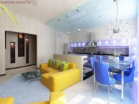 Стильный дизайн интерьера квартиры студии