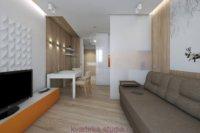 Квартира студия, проекты на базе минимализма