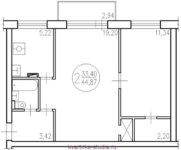 Квартира в блочном доме «1-510»