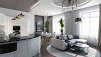 Хай-тек и оформление квартиры студии
