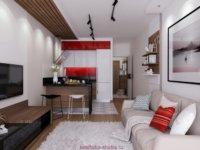 Красочное оформление малогабаритной квартиры