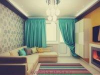 Квартира студия, спальная зона трансформируется в гостиную