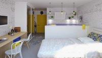 Квартира студия 17 кв. м – дизайн и оформление