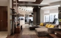 Квартира студия 40 кв.м – дизайн и обустройство