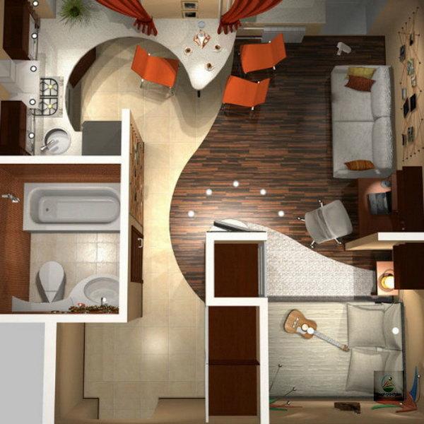 Перепланировка однокомнатной квартиры 47квм - Идеи для