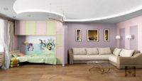 Проект гостиной с детской
