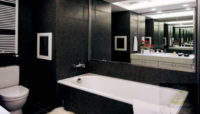 Идея с черно-белой ванной