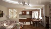 Соединение кухни-гостиной