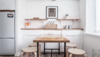 Кухни так и остались, маленькие и скромные