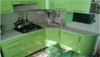 Проект кухни для небольшой семьи