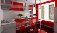 Шикарный вариант оформления кухонной зоны
