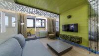 Проект: спальня-гостиная-рабочий кабинет