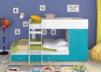 Дизайн квартиры хрущевки 2 комнатной со спальными детскими местами