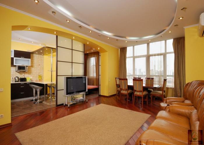 Дизайн квартиры хрущевка, 2 комнатная, переделанная в студию