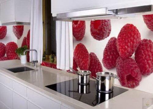 Фотообои в оформлении кухни