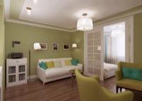 Дизайн и оформление: гостиная-спальня