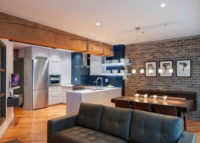 Дизайн студийной хрущевки 2 комнаты в едином стиле хай-тека