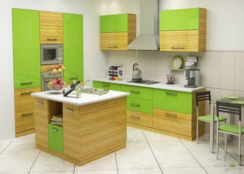 Яркая красивая кухонная зона