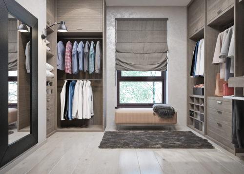 Пример комнаты вместе с гардеробной