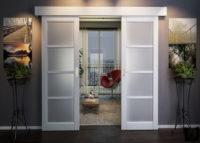 Матовые двери, как вариант зонирования