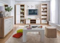 Хрущевка, дизайн. Квартира двухкомнатная с мебельным гарнитуром в скандинавском стиле