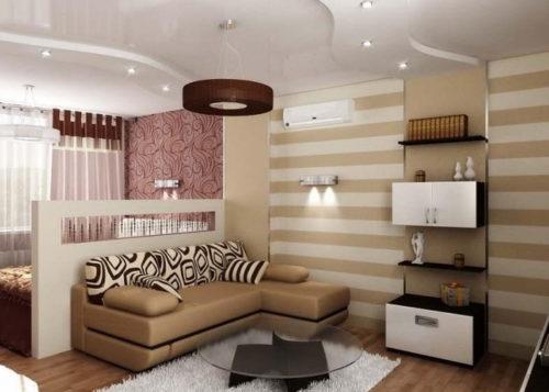Оформление гостиной зоны