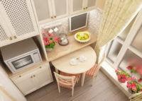 Удачное решение для маленькой кухни