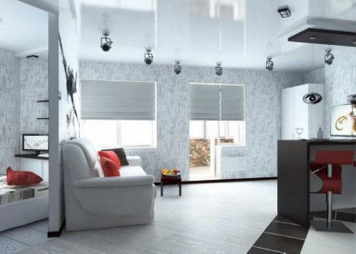 Переделанная хрущевка, 2 комнаты дизайн для двоих