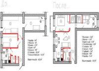 2-комнатная хрущевка, дизайн в стиле «квартира-офис»