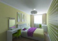 Дизайн квартир, хрущевка двухкомнатная: оформление спальной зоны