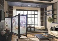 Хрущевка спальня с мобильной перегородкой
