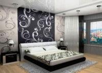 Спальня в черно-белом исполнении