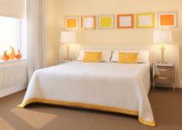 Живая желтая спальня
